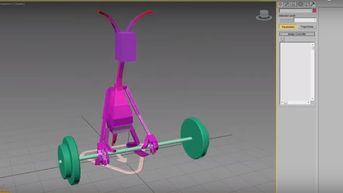 3ds max Cat Animazione Alien e Constraint.