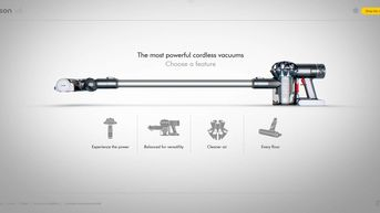 DysonV6 - Interactive website