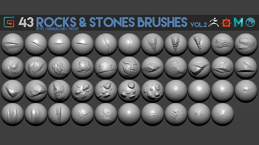 43 Rock & Stones Brushes Vol.2