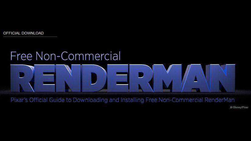 Pixar's RENDERMAN free