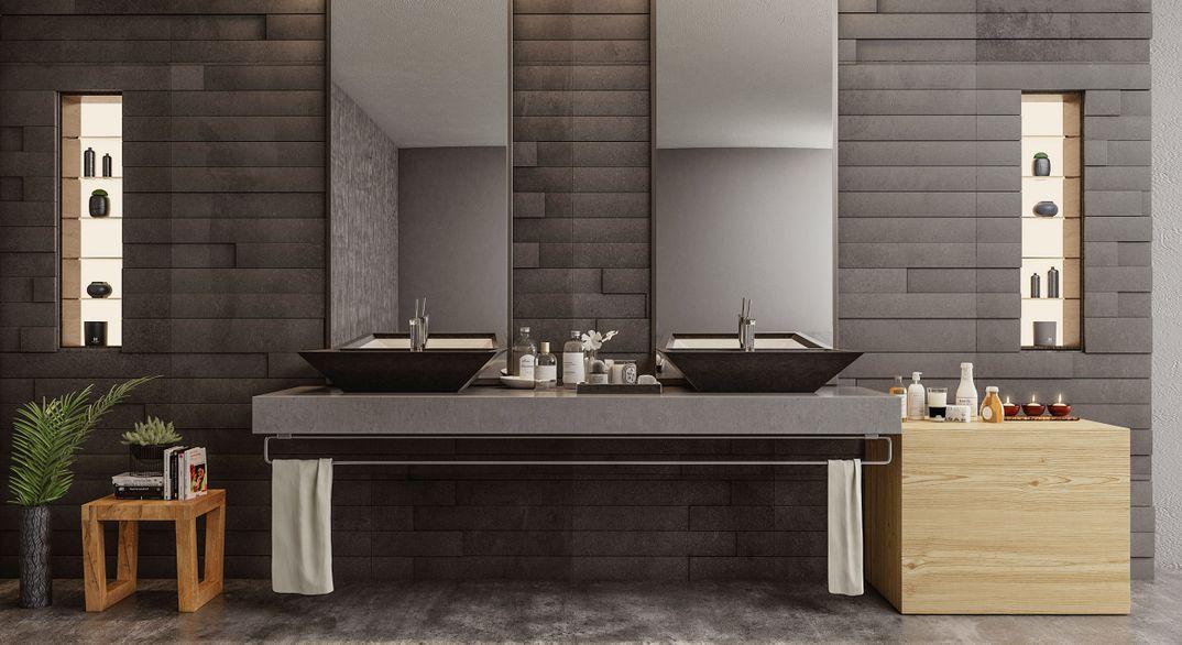 Master bathroom render