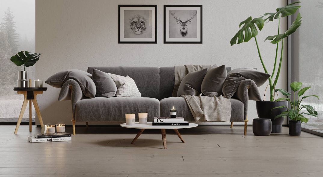 Scandinavian living render Corona 1.7