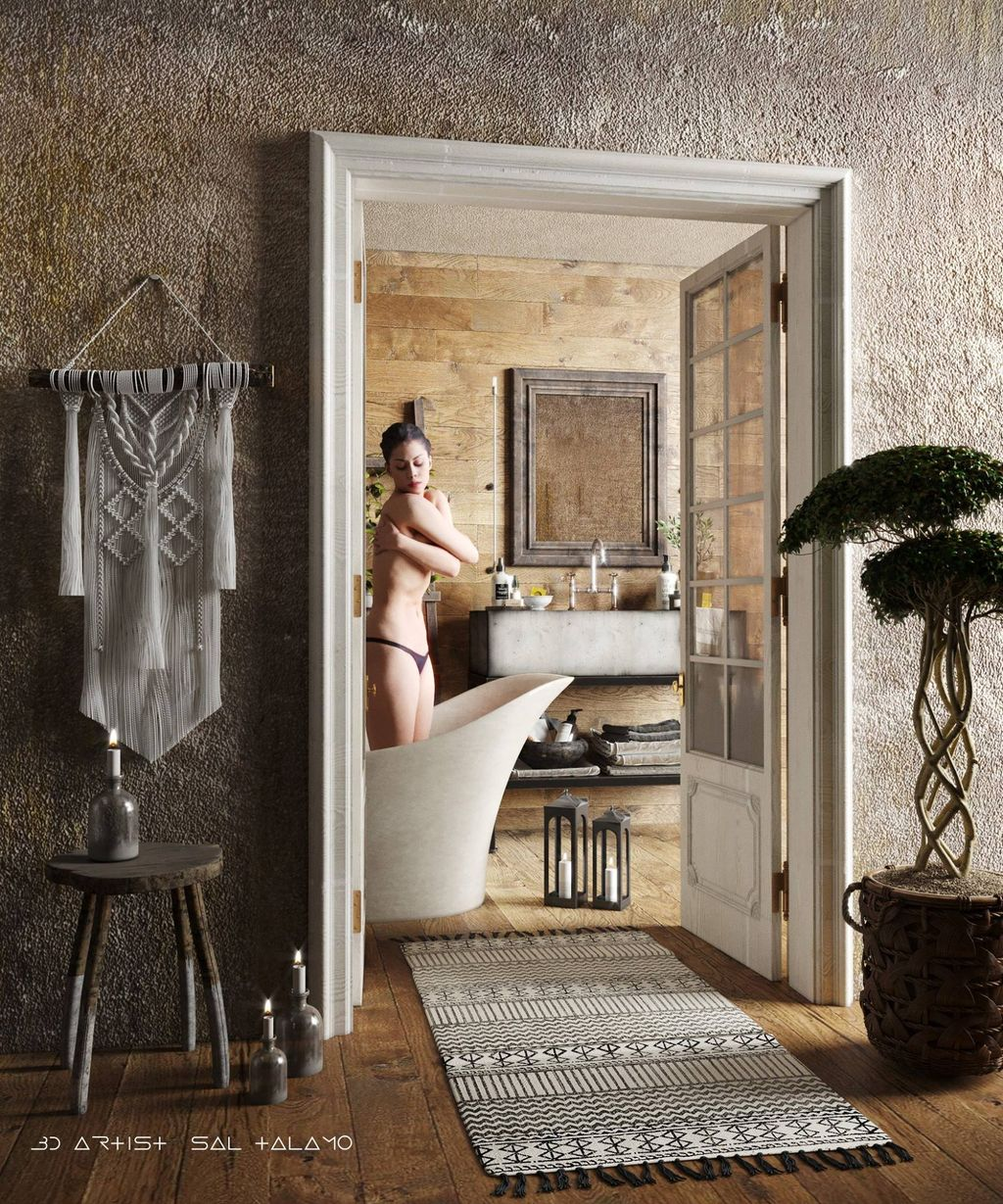 bathrom old nude