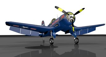 Vought F4 Corsair Red Bull skin