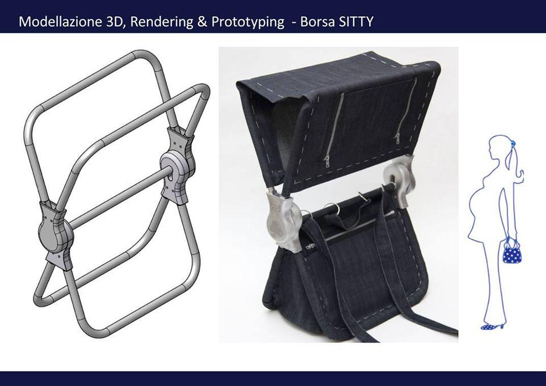 sitty - la borsa-sedia per la città