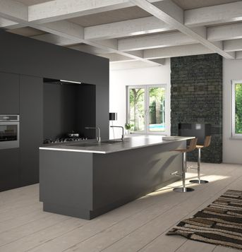 Modern And Rustic Kitchen