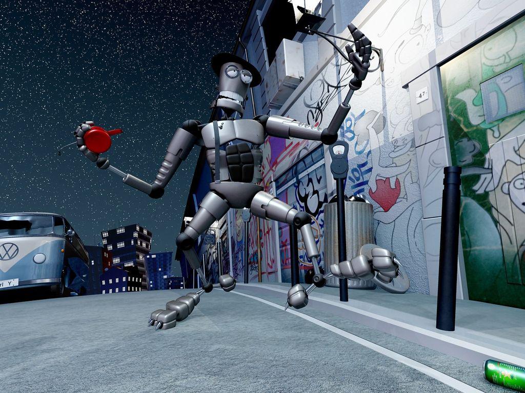 Robot ubriaco versione notturna
