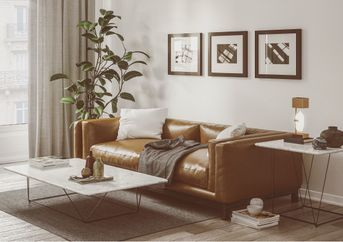 Personal sofa model render with Corona