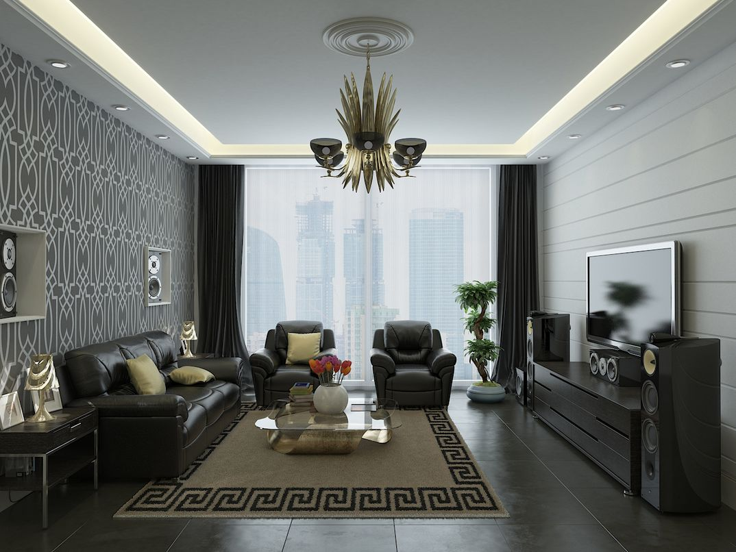 soggiorno moderno 3DStudioMax + Vray
