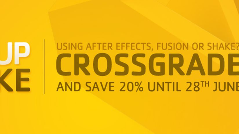 Nuke discount of 20% to user of After Effects, Fusion or Shake