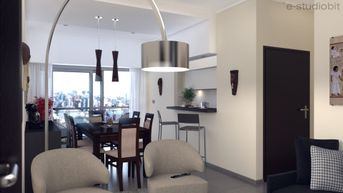 Apartment living & dining room Renders
