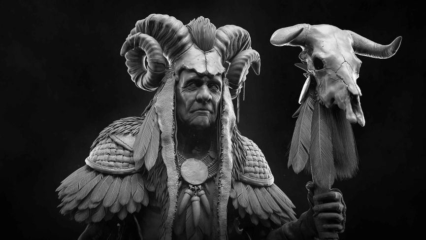 "Making of Shaman ""HighPoly"""