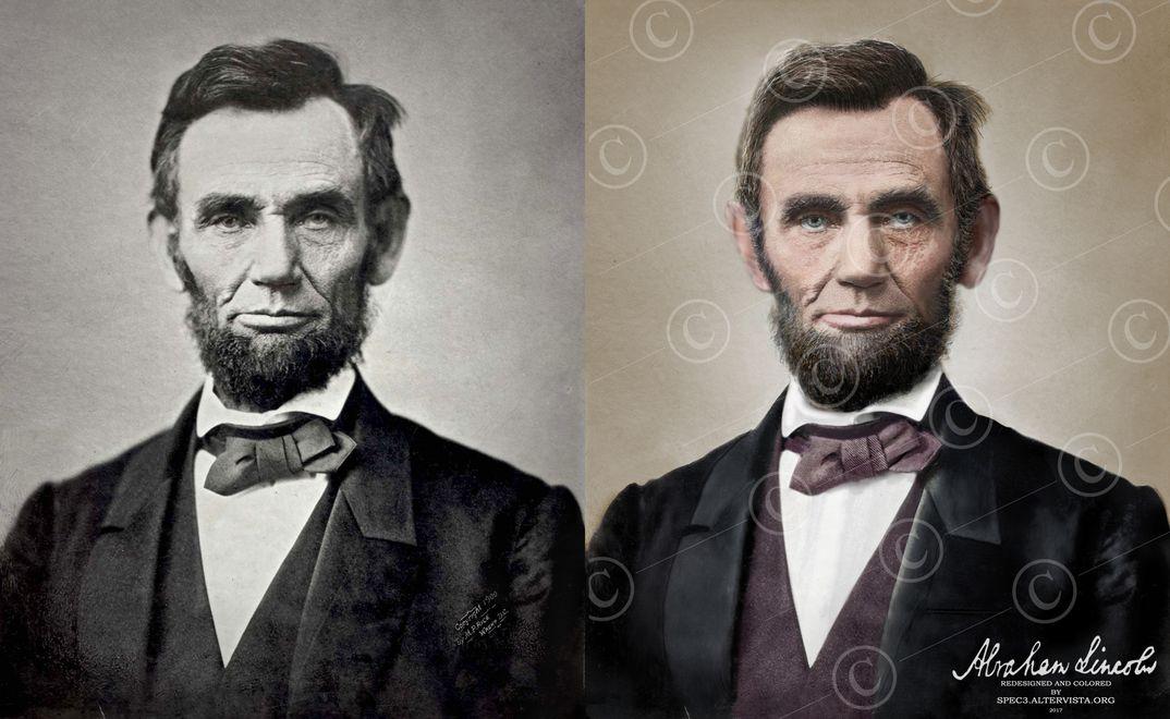 Abraham Lincoln a colori