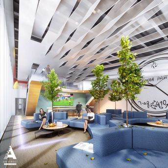 Visualization of office for the large Russian company
