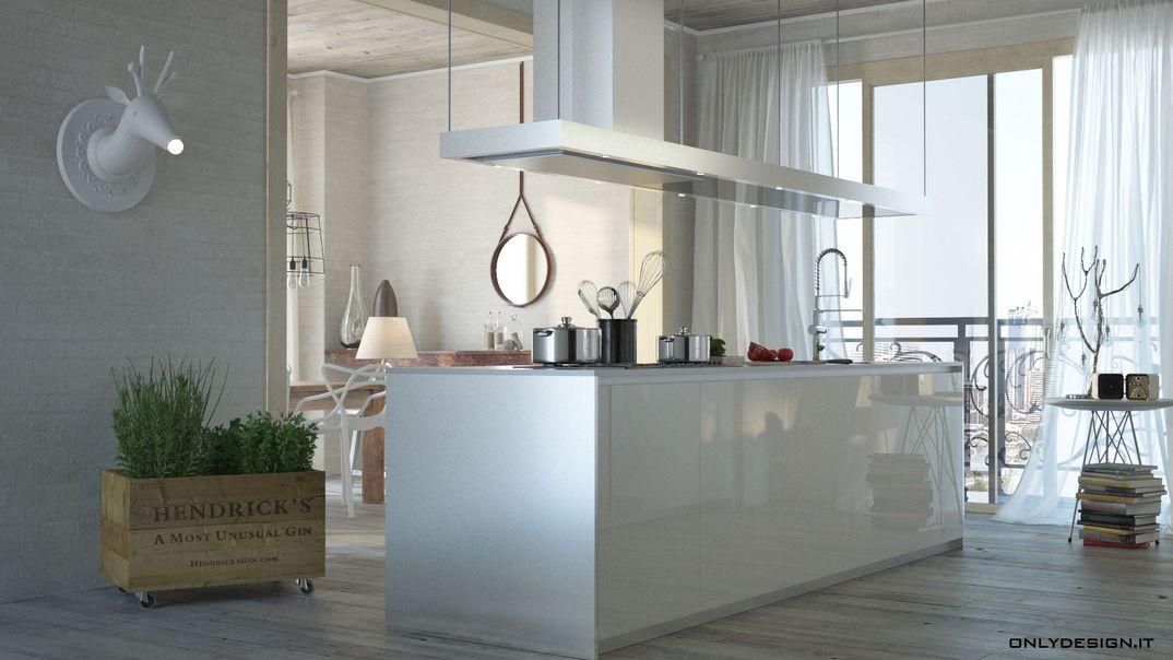 Spazio living e cucina