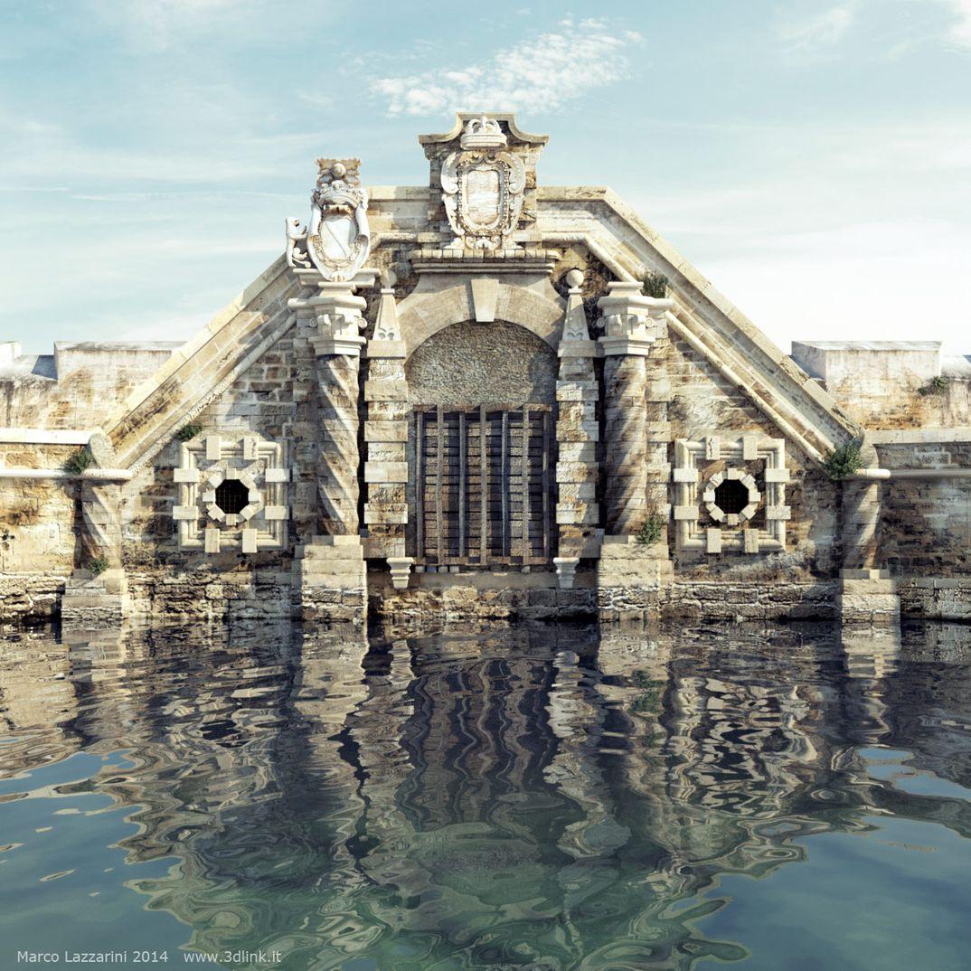 Ricostruzione antica porta di Ortigia (MoskitoRender)