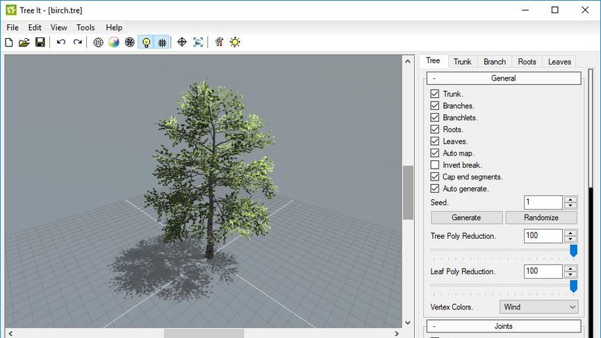 Tree It: generatore gratuito di alberi 3D