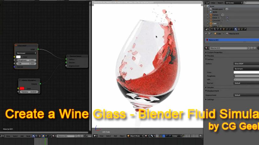 Create a Wine Glass - Blender Fluid Simulation
