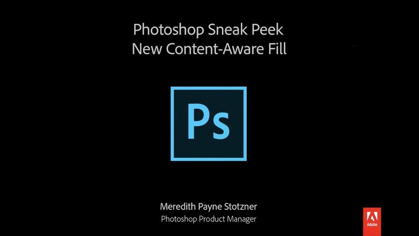 Anteprima del nuovo Content-Aware Fill di Photoshop