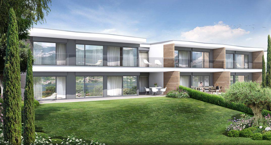Progetti Esterni Villette : Render di esterni ed interni ville a schiera realizzazione