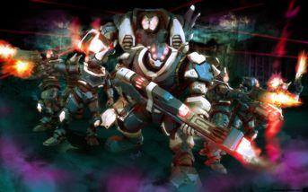 Futuristic warfare army
