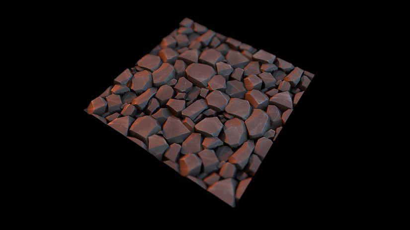 Free PBR Stylized Cobblestone