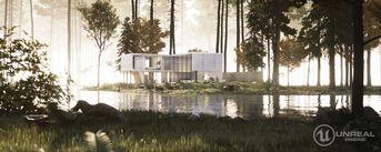 ARCHVIZ MINIMAL FOREST HOUSE UNREAL ENGINE 4.17.2