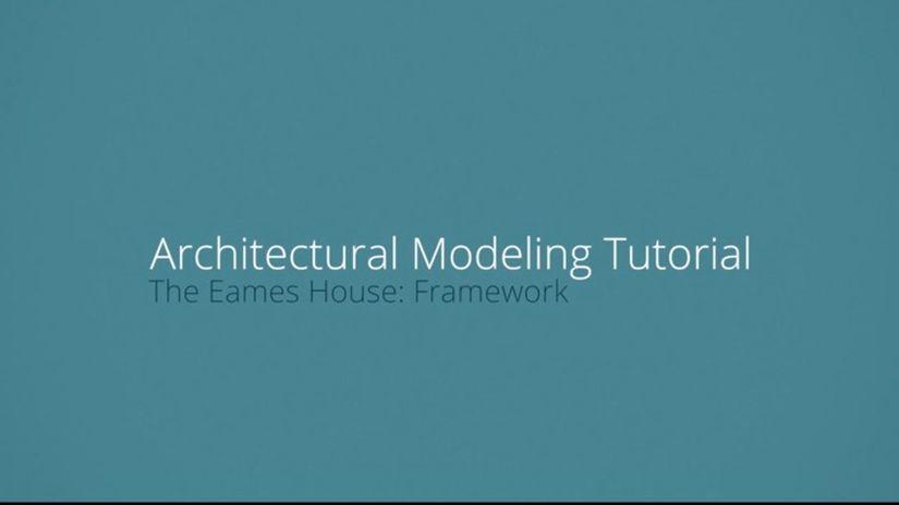 Modellazione architettonica della Eames House con modo