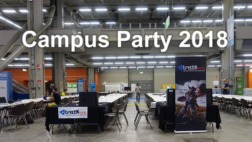 Treddi.com ti invita a Campus Party 2018