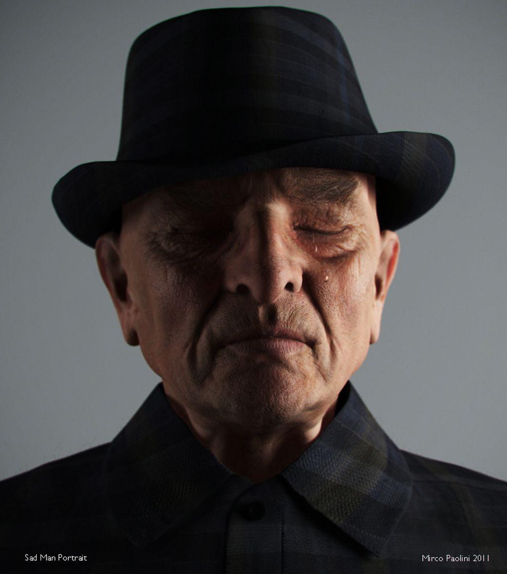 Sad Man Portrait
