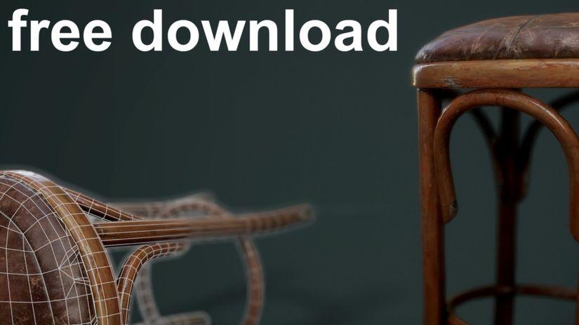 Sgabello 3D da scaricare gratuitamente