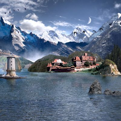Matte Painting - Castle Lake