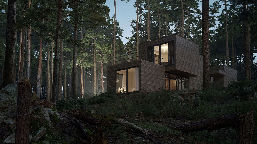 Residence in the woods