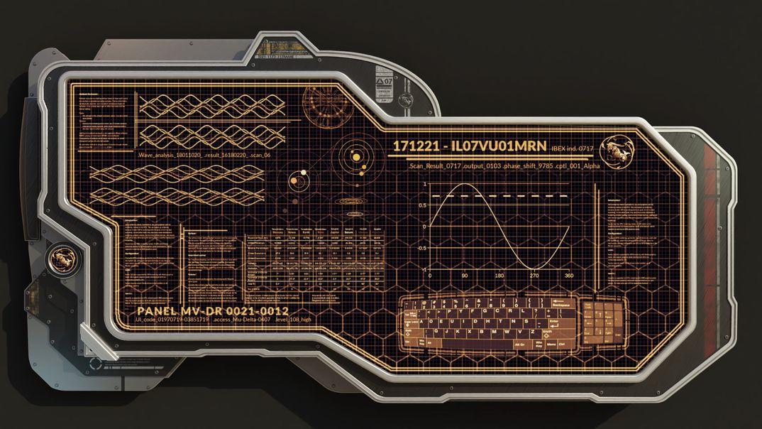 Console Scifi a Muro