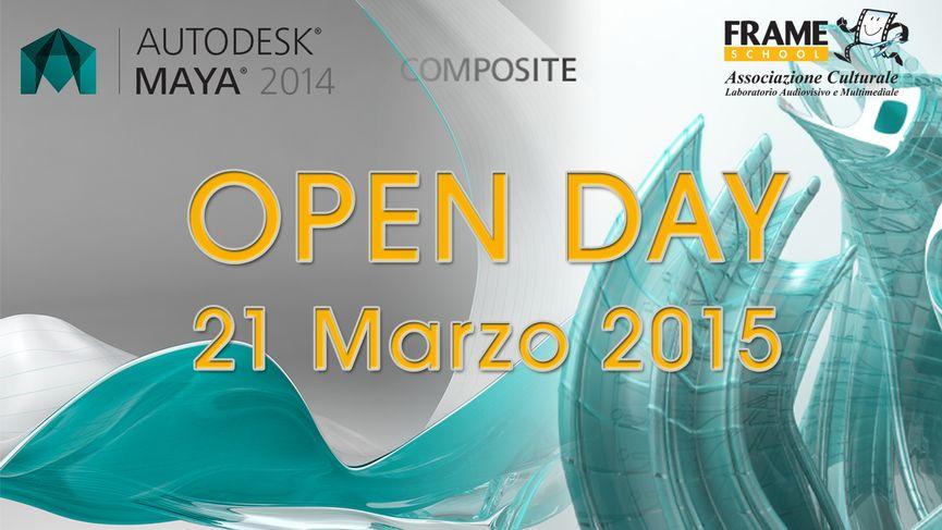 Open day - 21 marzo 2015 - presentazione corso Visual FX / Frameschool