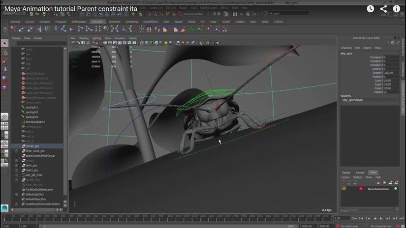 Uso dei constraint per le animazioni