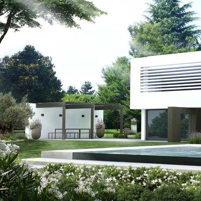 Rendering villa bianca