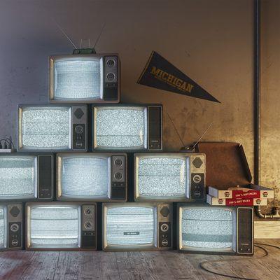 Vintage TV Pile