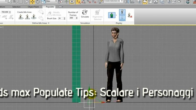 3ds max Populate Tips: Scalare i Personaggi