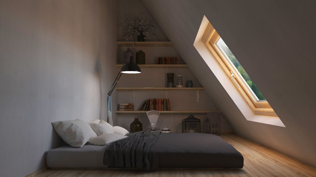 Interior render - Nordic bedroom