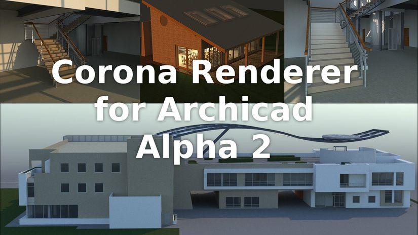 Corona per Archicad alpha 2