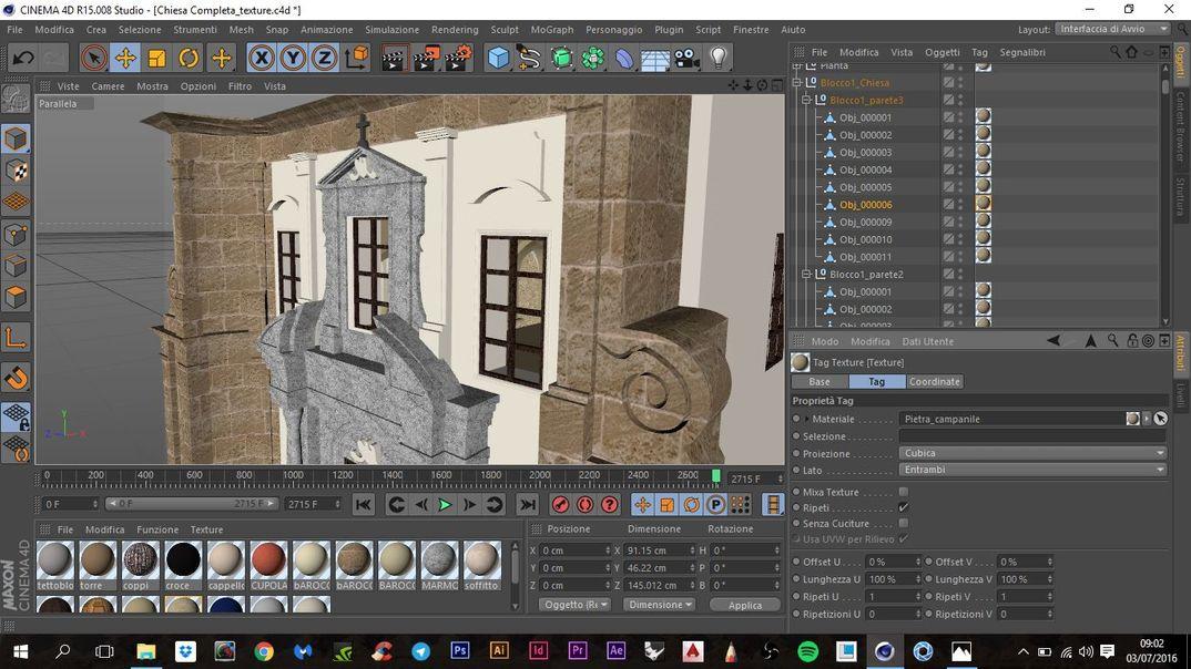 Modellazione 3D Chiesa della Martorana Palermo