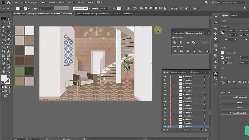 Tutorial: Vettorializzare un'immagine raster con Adobe Illustrator