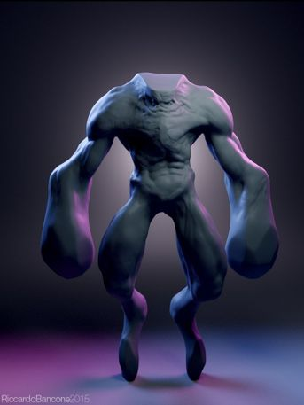Quick Zbrush Sketch+Blender+Cycles