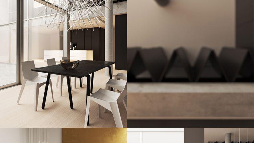 """""""4 rooms study"""" - un progetto di XOIO con Corona Renderer"""