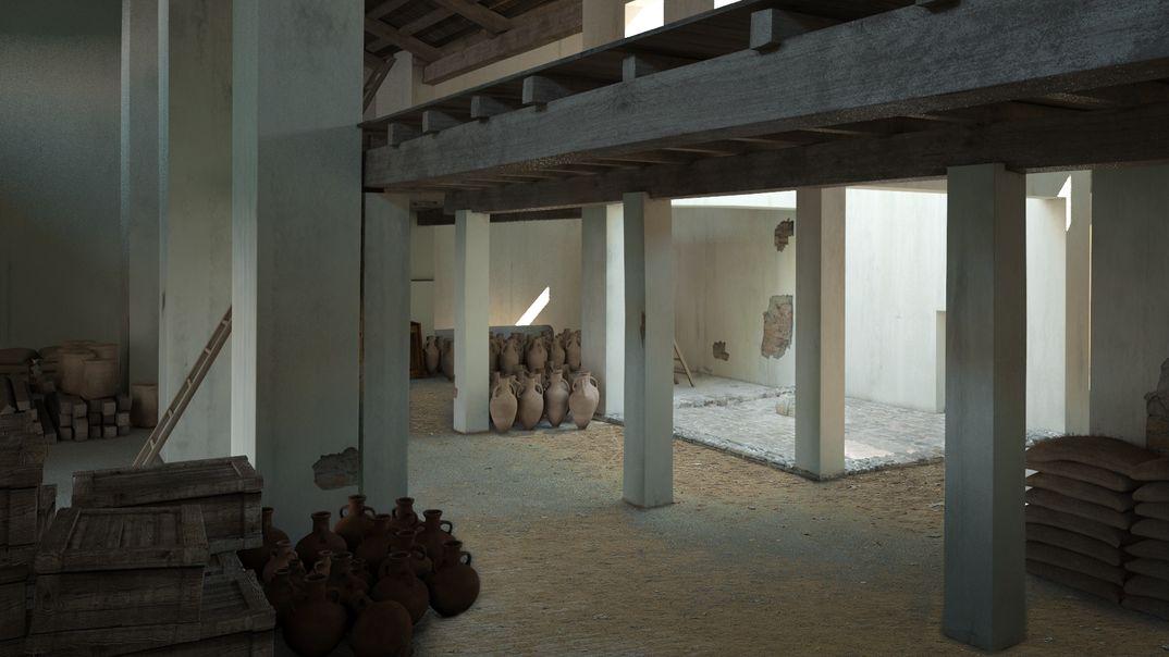 Ricostruzioni antico porto Romano a Ravenna
