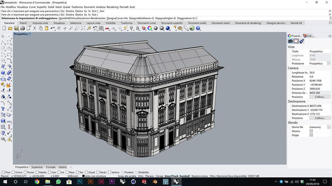 From photos to 3D model. Sant'Angelo Palace in Palermo.