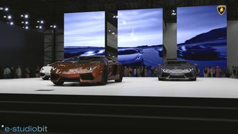 Lamborghini Aventador stand renders