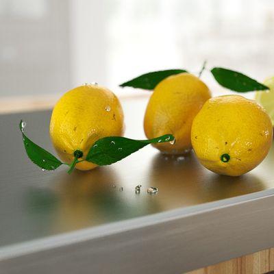 Lemons on chopping-board