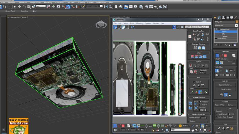 3ds max Unwrap e lo Spazio XY - UV